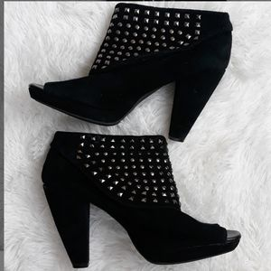 Kenneth Cole studded suede booties